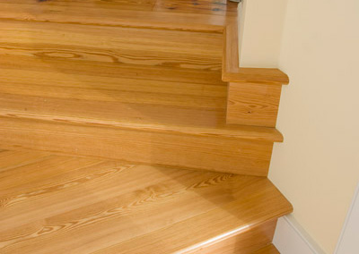 Hardwood floors and stairs