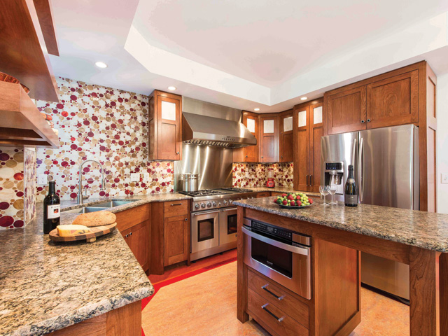 An Award-Winning Kitchen with Cherry Cabinets